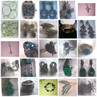 Jewellery stolen in some of the raids.