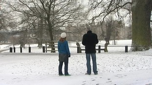 Snow at Burghley House, Stamford