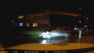 Dash cam footage of Steven Paul Kidd speeding along residential roads