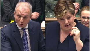 Key moments from Prime Minister's Questions as Thornberry and Lidington stand in