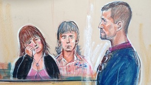 Court artist sketch of Mark Bridger's appearance