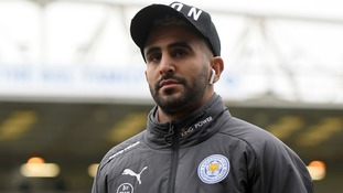 Riyad Mahrez plays as a winger for Leicester City