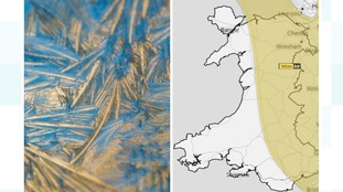 Ice warning for Eastern Wales