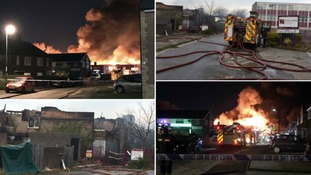 Firefighters tackle flames at derelict school