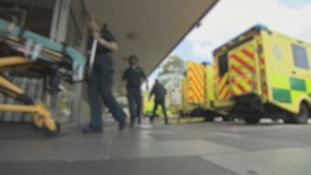 Patients are being forced to spend long periods waiting in ambulances outside A&E