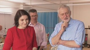 Jeremy Corbyn was in a Milton Keynes Hospital