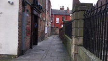 The alleged rape happened in an alleyway behind the Boot and Shoe pub, Church Lane.