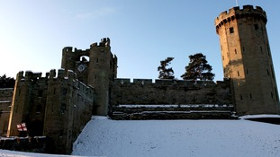 Warwick Castle this morning