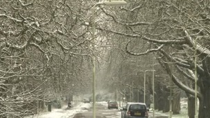 Snow on a street