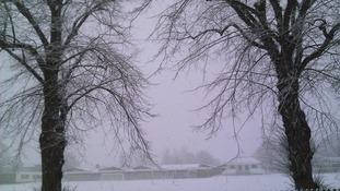 King's School, Ely under a blanket of snow