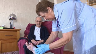 Maureen does her rounds in the Lowestoft area as community healthcare assistant.