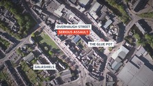 The man was assaulted after leaving The Glue Pot on Overhaugh Street