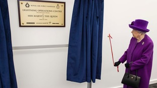 The Queen officially opened the new Lightning Operations Centre