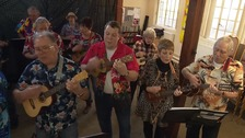 The Sandy Ukulele Group from Bedfordshire in action.