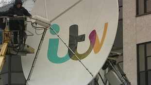 The satellite dish outside ITV Anglia in Norwich