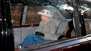 The Queen in her Bentley at Sandringham