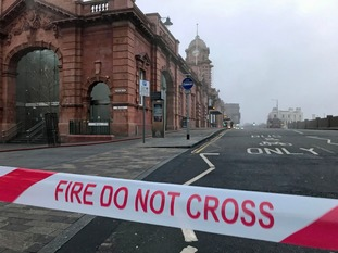 The fire caused major disruption to rail passengers.