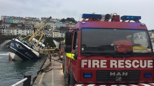 Firefighters save sinking trawler