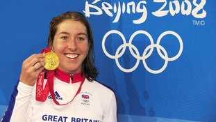 Great Britain's Nicole Cooke at the 2008 Beijing Olympic Games