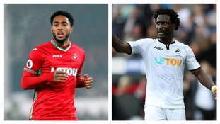 Swansea pair Leroy Fer and Wilfried Bony ruled out for season