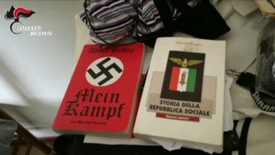 The copy of Mein Kampf found in Luca Traini's home.