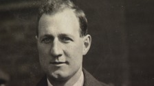 Tom Curry who has been honoured with a blue plaque on his home