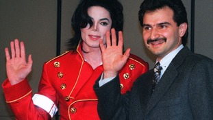 Michael Jackson and  Prince Alwaleed bin Talal pictured in 1996.