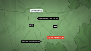 Emergency services were called to the northbound carriageway of the A11 at Little Abington