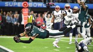 Philadelphia Eagles win first-ever Super Bowl title defeating the New England Patriots