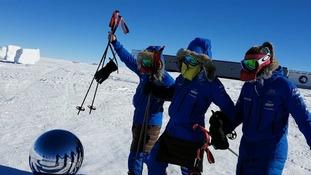 'Ice maiden' British army team celebrate record-breaking Antarctica trip
