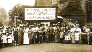The suffragist march from Land's End to London in 1913.