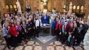 Female MPs in Westminster gathered to mark the centenary.