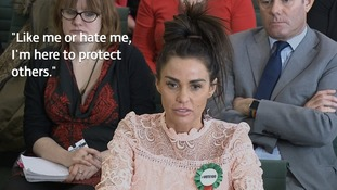 Katie Price gives evidence to MPs.
