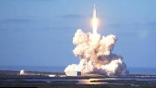 The Falcon Heavy launches.
