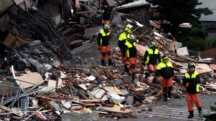 Rescuers search for survivors after Taiwan earthquake