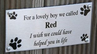 Plaque of respect for Red