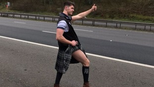 Scottish rugby fan