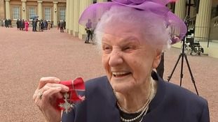 Peggy Maskrey, 97, who made helping the poorest her life's mission awarded MBE in special day at Buckingham Palace