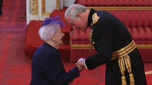 She received personal praise from Prince Charles while receiving her MBE.