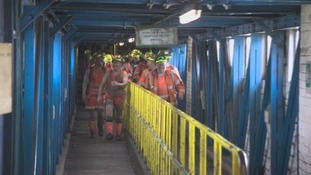Miners walk out on last shift change at Kellingley Colliery