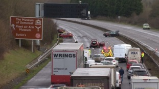 Fatal crash shuts the M5 near Taunton