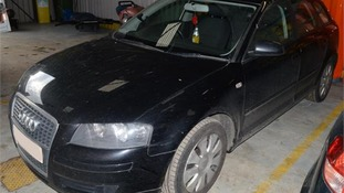 The Audi A3 as released by Cambridgeshire Police