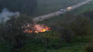 Israel said it held Iran responsible for the crash.