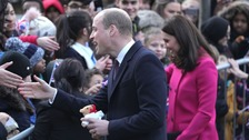 William & Kate together in Coventry last month