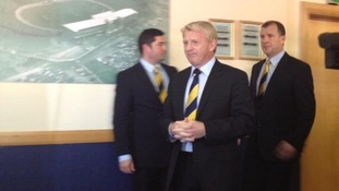 Gordon Strachan at Hampden Park.