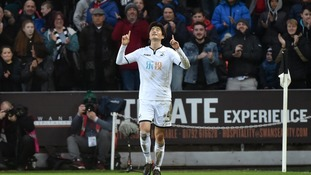 Ki Sung-yueng's late strike secured a Swansea victory over Burnley