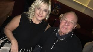Alfred Sykes with daughter Karen