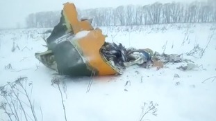 Wreckage of the plane was found about 20 miles south of Moscow.