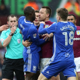 N'Doye was sent off in the final minutes for the Blues following an altercation with John Terry and Mile Jedinak.