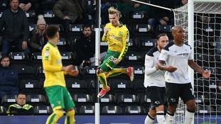 James Maddison celebrates his equalising goal against Derby